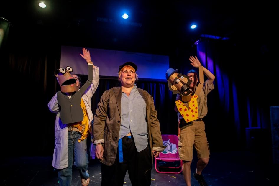 3. KATD - Giant Killer Shark The Musical - Amanda Mullally, Sarah Richardson and Alynne Sinnema - photo by Stoo Metz